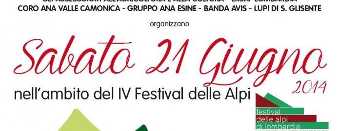 Sabato 21 giugno 2014 -IV Festival delle Alpi