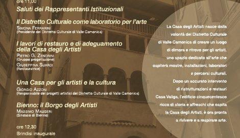 """Inaugurazione della """"Casa degli Artisti"""""""
