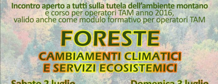 """Seminario """"Foreste – Cambiamenti Climatici e Servizi Ecosistemici"""""""