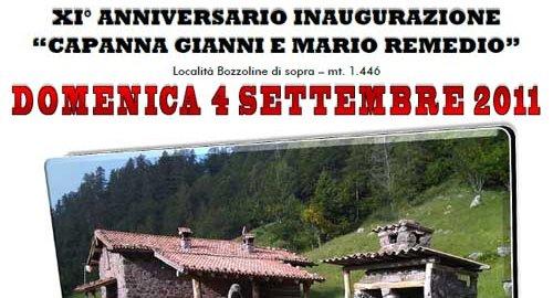 XI° Anniversario Capanna Gianni e Mario Remedio